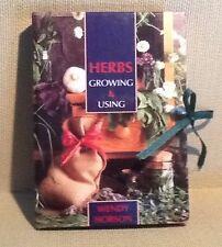 HERBS  Growing & Using  by Wendy Hobson Hardcover 2 book Set