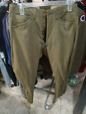 COMBAT Mens Army Green WWII Wool Pants Military Size 29 x 25