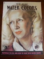 Walter Foster How to do Water Colors Book of Art Instruction