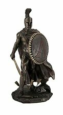 More details for spartan king leonidas with sword and shield bronzed statue