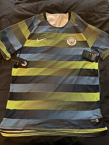 Nike Manchester City Official 2018 - 2019 Elite Soccer Training Jersey Green XL