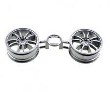 26mm largeur, offset 0 TT01//TT02//F103GT Tamiya 53914 plat blanc roue 4 pcs.