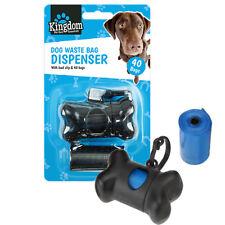 Pet Dog Poo Waste Bag Garbage Clean Carrier Holder Bone Shape Dispenser Box UK