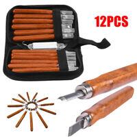 12 pezzi di set di scalpelli per intaglio del legno set di utensili manuali