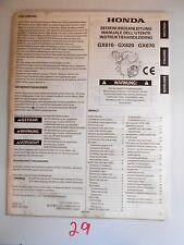Honda GX610 GX620 GX670 Engine Owner's Manual