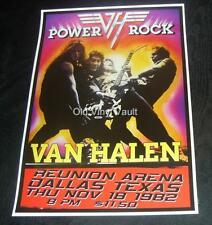 Van Halen concert poster Dallas Texas 1982 new A3 size repro