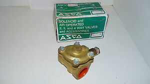 ASCO Red-Hat P210D008 Air Operated 1 1/4 Brass Valve 125 psi P210D8