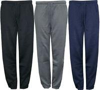 Mens Plain Jogger New Trouser Bottoms Tracksuit Jogging Pants S M L XL 3 Colours