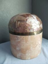 Pink Fossil Coral Jewelry Box Maitland-Smith style