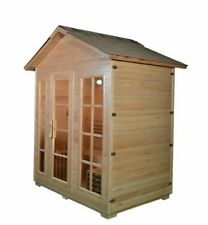 2-4 or 5-6 Person Outdoor sauna (wood burning option)
