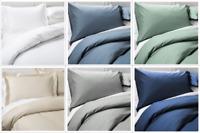 500 Thread Count 100% Cotton Stripe  3-Piece Duvet Cove Set,Zipper Closure