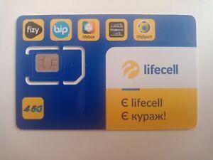 Sim Card Ukraine Lifecell 4G -5G Top