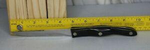 "CUTCO Cutlery Knife 1721 Serrated Trimmer 4.75"" Blade 10"" Knife Black Handle Red"
