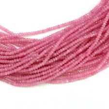 2x4MM Natural Faceted Pink Rhodochrosite Rondelle Gems Loose Beads 15'' AAA