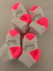 *** 12 Pair Baby Girl  TODDLER  (PINK) Performance Brand  Socks 2T- 4T LQQK***
