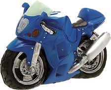 Salvadanaio Moto BLU cm 23 in Resina