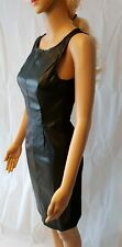 Jane Norman Black Dress Pu Bodycon Faux Leather - SIZE 8 - RRP: £35