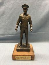 1986 Peace Officer BRONZE Statue Signed JOHN B. FINCHER ~ Heavy