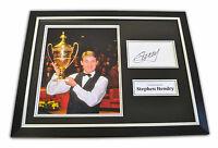 Stephen Hendry Signed Framed Photo 12x16 Snooker Autograph Memorabilia Display