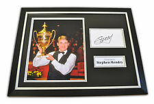 Stephen Hendry Signed Framed Photo 12x16 Snooker Autograph Memorabilia Display