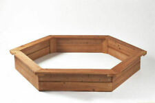 Garden Games Hexagonal Wooden Sand Pit with Cover and Underlay (6402)