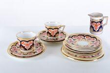 Wileman & Co Pre Foley Imari Cups, Saucers, Plates