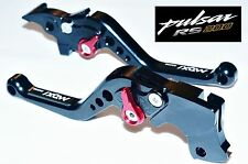 PULSAR RS 200 6 Position Adjustable Brake Clutch SHORT Levers BLACK