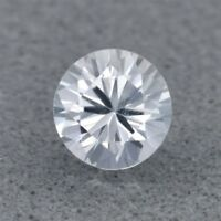 1.5mm Round Brilliant VVS 1pc Standard Heated Natural White Sapphire, Ceylon