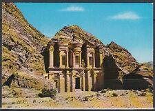 Jordanien Jordan used Post Card Postkarte Bauwerk building Petra [cm561]