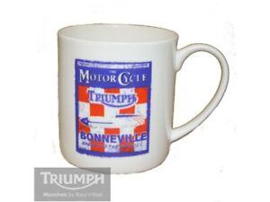 Triumph Bonneville salt flats Breaking The Barrier Poster Mug  in Box Official