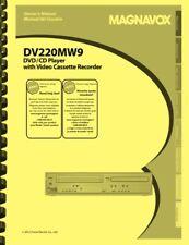 Magnavox DV220MW9 VCR DVD OWNER'S USER MANUAL