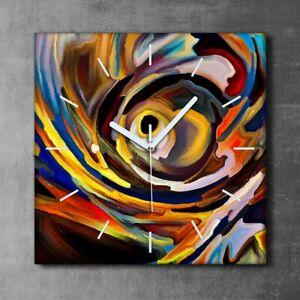 Canvas Clock Print Photo Wall Image Shape of colour creativity and art 30x30