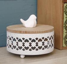 Wood Metal White Home Decor Bird Accessory Box Candy Box Holder Gift Box