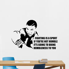 Mike Tyson Wall Decal Gym Quote Vinyl Sticker Sport Boxing Art Decor Mural 82nnn
