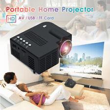HD Mini Portable Projector Micro Small USB AV SD LED Home Theater Cinema Black