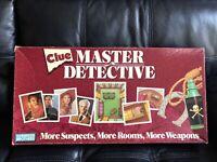 Vintage Clue Master Detective Parker Brothers 1988 Board Game 100% COMPLETE