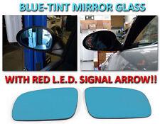 Blue Glass Mirrors LED Arrow Signal Lights for 06-09 Audi A3 /96-01 A4 /94-97 A6