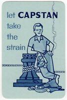 Playing Cards 1 Swap Card - Old Vintage Wills CAPSTAN Cigarettes MAN SMOKING
