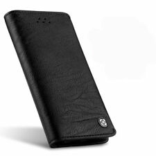 Genuine Leather Flip Wallet Case Card Holder Cover for Samsung Galaxy Note 8 S8 for iPhone X Black