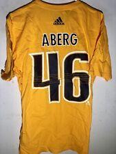 adidas  NHL T-Shirt Nashville Predators Pontus Aberg Gold sz XL