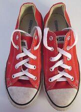 De Colección para Niños Chuck Taylor Converse Rojo Lona lo Playera/tamaño del zapato 2