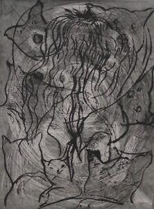 Radierung von Dieter Roth  Komposition IV 1977-91  Griffelkunst 1991