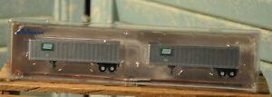 Athearn N Scale Penn Central 40' Z-Van Trailer Beaded 2 Pack 14232