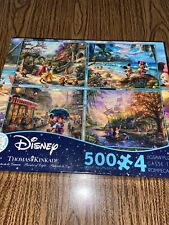 Thomas Kinkade Disney Multipack 4 In 1 Puzzles 500 Pieces Each Seal