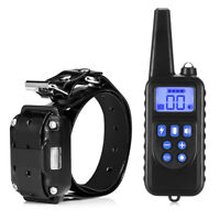 880 800m Rechargeable Dog Pet Training Collar Shock Remote Control LCD Display