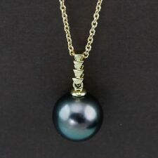 Genuine 18CT YG Natural Tahitian Pearl Pendant