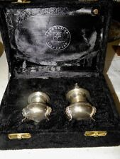 Vintage International Silver Company Two Piece Salt & Pepper Set Holiday Gift