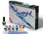 SPITFIRE Mk.Vb AIRCRAFT MODEL KIT WITH PAINTS, BRUSH & GLUE SET 1/72 MISTERCRAFT