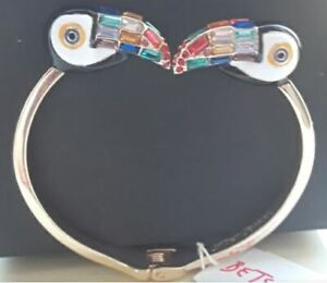 Betsey Johnson Welcome to the jungle Toucan Hinged Bracelet
