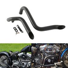 "Black 1.75"" Drag Pipes Exhaust For Harley Davidson Sportster 883 1200 1986-2013"